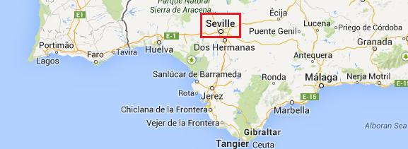 Map Sevilla